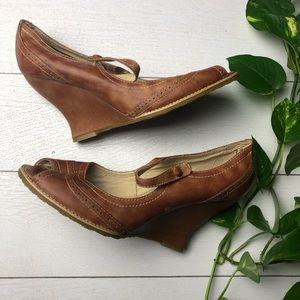 Seychelle Vintage Cooper Open Toe Wedges Size 11